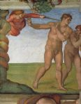 michelangelo buonarroti genesis the fall and expulsion from paradise the expulsion oil paintings