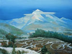 landscape distant mountains 2010 by molici originals painting