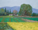 landscape the village is green again 2015 by molici originals painting