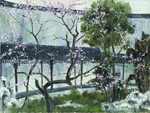 landscape garden series xii by molici originals painting