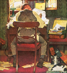norman rockwell eveningpost painting