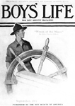 norman rockwell scout at ships wheel painting