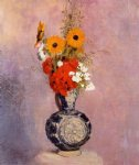 odilon redon bouquet of flowers in a blue vase ii painting 28513