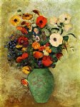 odilon redon bouquet of flowers in a green vase painting 28516