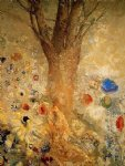 buddah in his youth by odilon redon painting