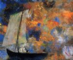 odilon redon flower clouds painting 28560