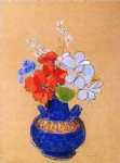 odilon redon flowers in a blue vase painting 28565