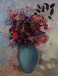 odilon redon flowers in a turquoise vase painting 28571