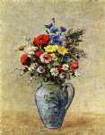 odilon redon flowers in a vase with one handle painting 28573