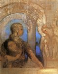 odilon redon mystical knight painting
