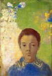 portrait paintings - portrait of ari redon by odilon redon