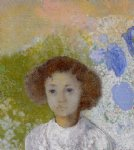 portrait paintings - portrait of genevieve de gonet as a child by odilon redon