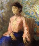 odilon redon portrait of jeanne chaine painting 28616