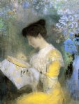 portrait paintings - portrait of madame arthur fontaine by odilon redon