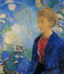 portrait paintings - portrait of madame de demecy by odilon redon