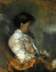 portrait paintings - portrait of madame redon by odilon redon