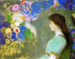 portrait paintings - portrait of violette heyman by odilon redon