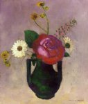 odilon redon rose and daisy painting 28646