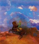odilon redon the green horseman painting