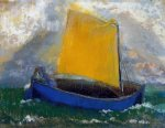the mysterious boat ii by odilon redon painting