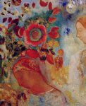 odilon redon two young girls among flowers painting 28701