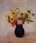 odilon redon vase of flowers ix painting 28709