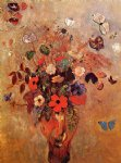 odilon redon vase with flowers and butterflies painting 28727