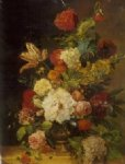 original a bunch of flowers in a bronze vase painting 28242