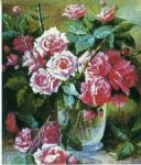 original paintings a bunch of roses in a glass painting