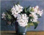 original paintings a bunch of white flowers in a vase painting