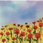 original paintings a field of poppies paintings