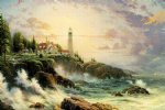 original a light tower by the sea by original paintings painting