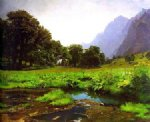 original a small stream at the foot of the mountain by original paintings painting