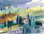original a small village by original paintings painting