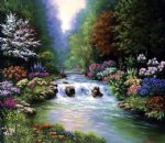 original a stream in the jungle by original paintings painting