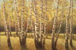 original paintings autumn woods painting