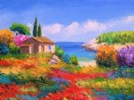 original paintings fantasy garden painting