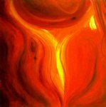 original paintings flame painting