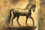 original golden horse by original paintings painting-28320