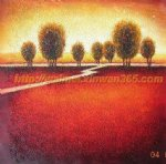 original highroad by a reddish field by original paintings painting-28323
