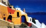 original paintings - original mediterranean scenery a house by the sea by original paintings