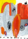 original paintings orange and white painting