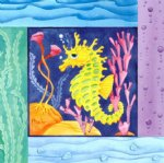 original paintings sea horse painting