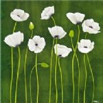 original some white poppy flowers painting 28431