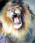 original the head of roaring lion by original paintings painting