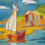 original paintings yacht and cabins painting