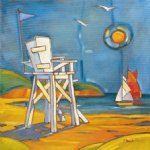 yacht in the sun by original paintings painting