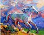original   abstract a horse 10 painting 86701