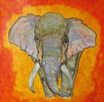 original   abstract elephant 2 painting-86704