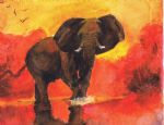 original   abstract elephant 3 painting-86705